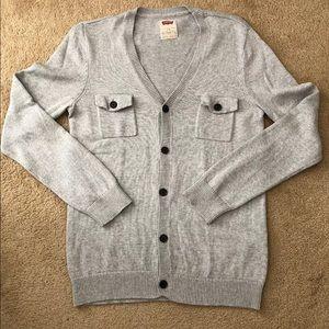Levi's gray cotton cardigan size L